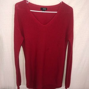 a.n.a. Red v-neck sweater